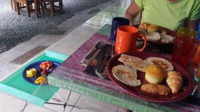 Petit déjeuner au B&B Buena Suerte de Cahuita - Costa Rica
