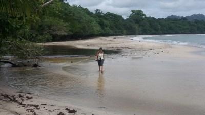 Le bord de mer du parc de Cahuita - Costa Rica