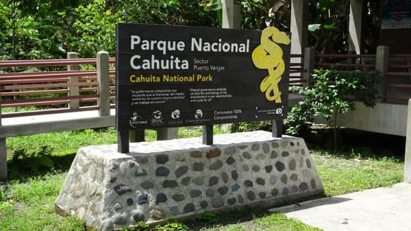 Entrée du parc de Cahuita secteur Puerto Vargas - Costa Rica