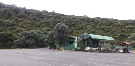 Le parking du parc national du volcan Irazu - Costa Rica