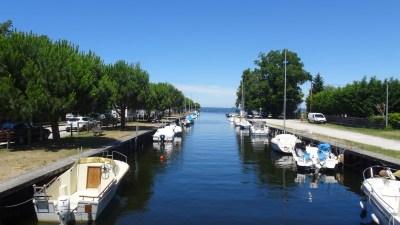 Le port du lac de Carcans-Hourtin