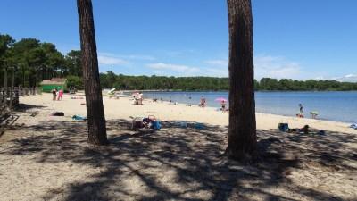 La plage du lac de Carcans-Hourtin