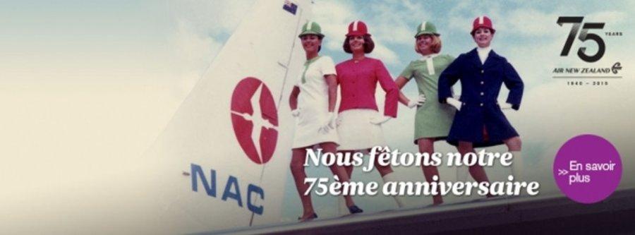 75 ème anniversaire air NZ