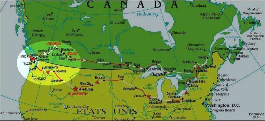 Canada et Etats Unis en camping-car (2015) - Secteur 3