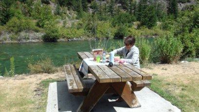 Pique-nique sur la route entre Whistler et Kamloops - Canada