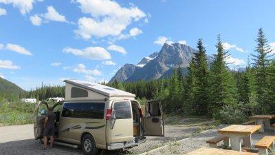 Campground Ruisseau Silverhorn - La route des Glaciers - Rocheuses canadiennes