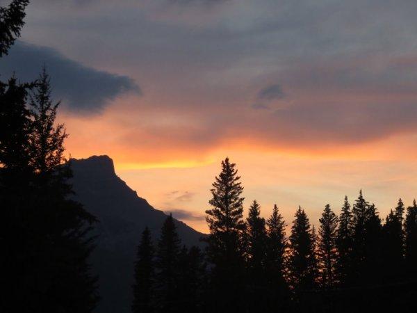Coucher de soleil - Wapiti RV Campground - Canmore
