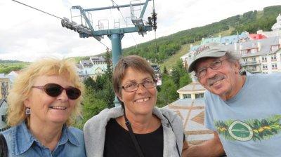 Au Mt Tremblant avec Diane et Yves