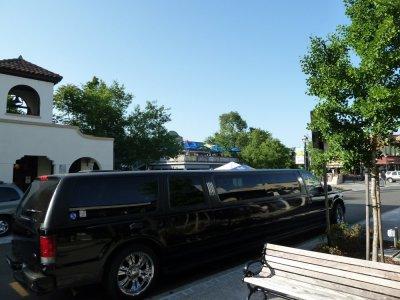 Limousine dans le centre historique de Folsom - Californie (USA)
