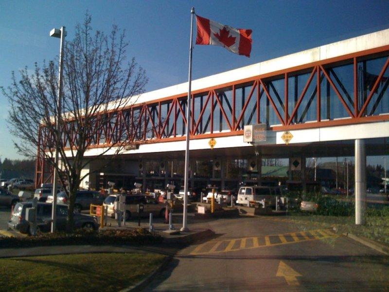 Blaine - poste frontière USA (Washington) et Canada (Colombie britannique)
