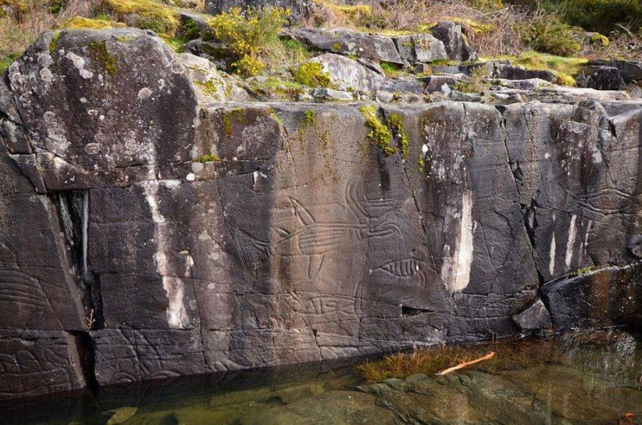 Petroglyphs - Sproat Lake - île de Vancouver (Canada)