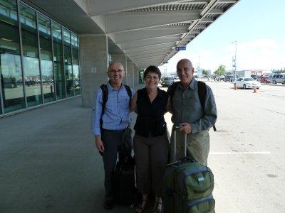 départ à l'aéroport de Québec