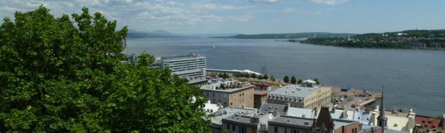 Le fleuve St Laurent depuis le vieux Québec