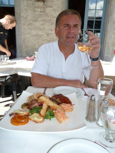 Au restaurant dans le vieux Québec