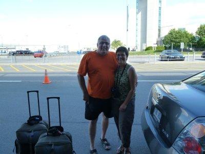 On se quitte à l'aéroport de Québec