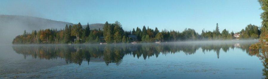 Le lac Gagnon - Val des Lacs (Québec)