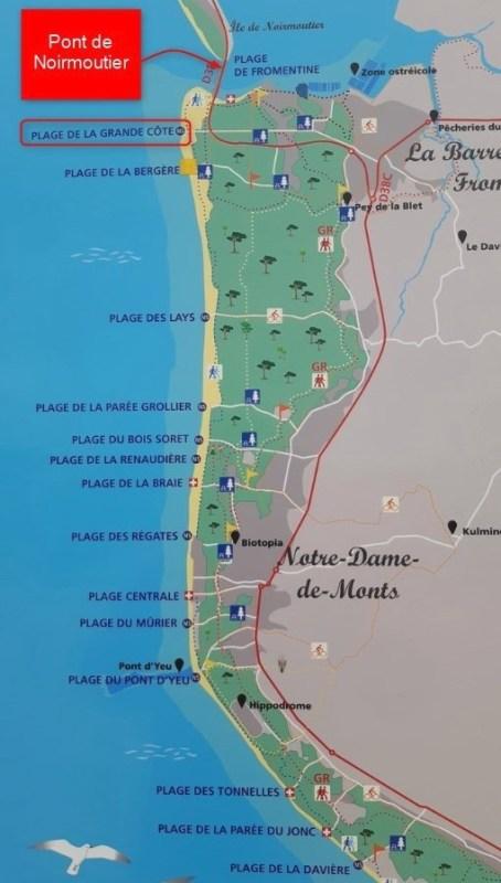 La Barre-de-Monts et le pont de Noirmoutier