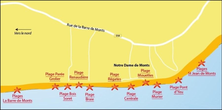 Les plages de Notre-Dame-de-Monts - Vendée