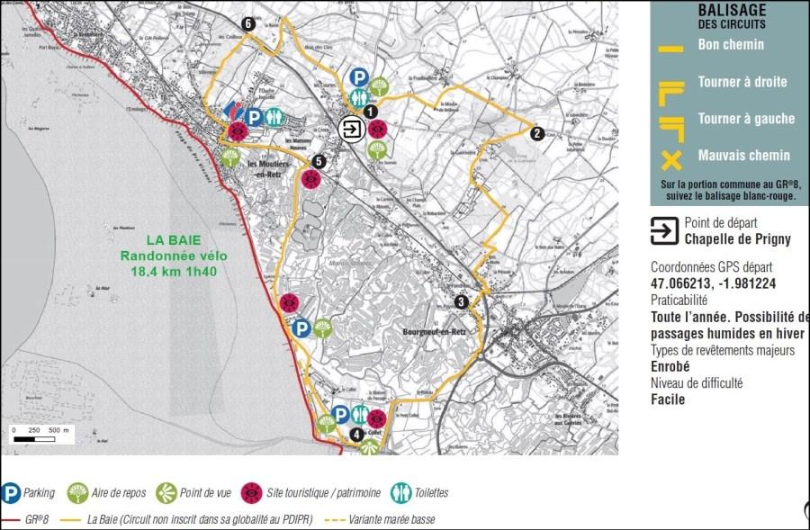 Randonnée vélo La Baie - Les Moutiers-en Retz