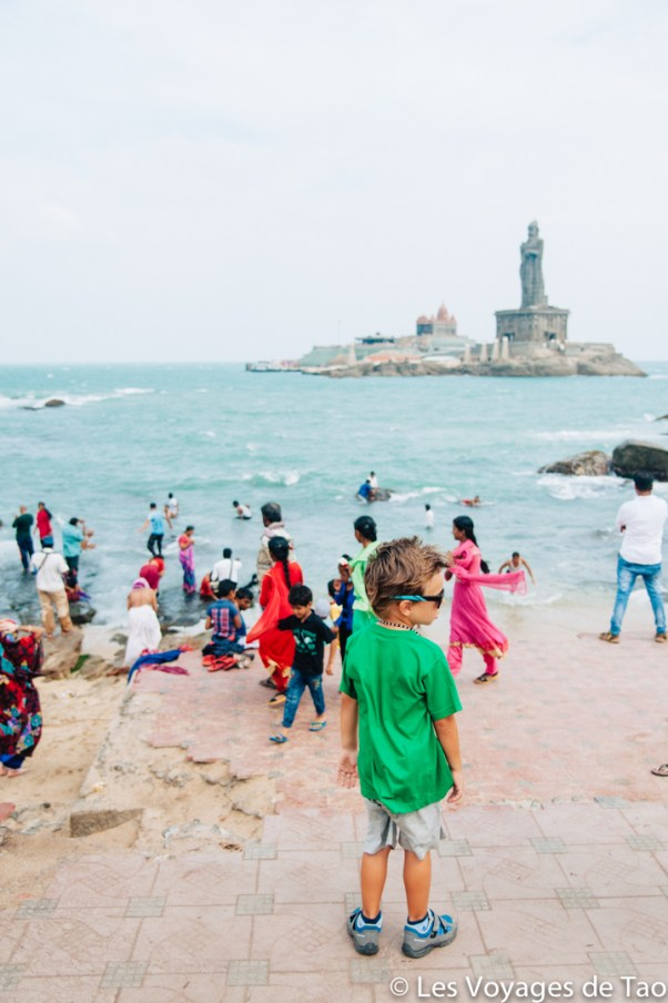 Voyager avec un enfant en Inde Kanyakumari