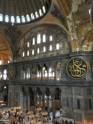 La basilique Sainte-Sophie à Istanbul en Turquie dans mon article Mon itinéraire en Turquie: Que faire, voir et visiter en 7 jours #turquie #voyage #asie #cappadoce #istanbul