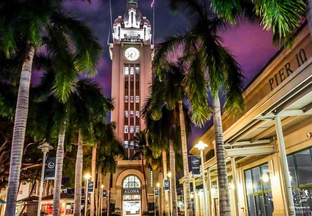 Visiter Honolulu et la Aloha Tower dans notre article Que faire à Honolulu sur l'île d'Oahu à Hawaii #oahu #honolulu #hawaii #hawaï #voyage