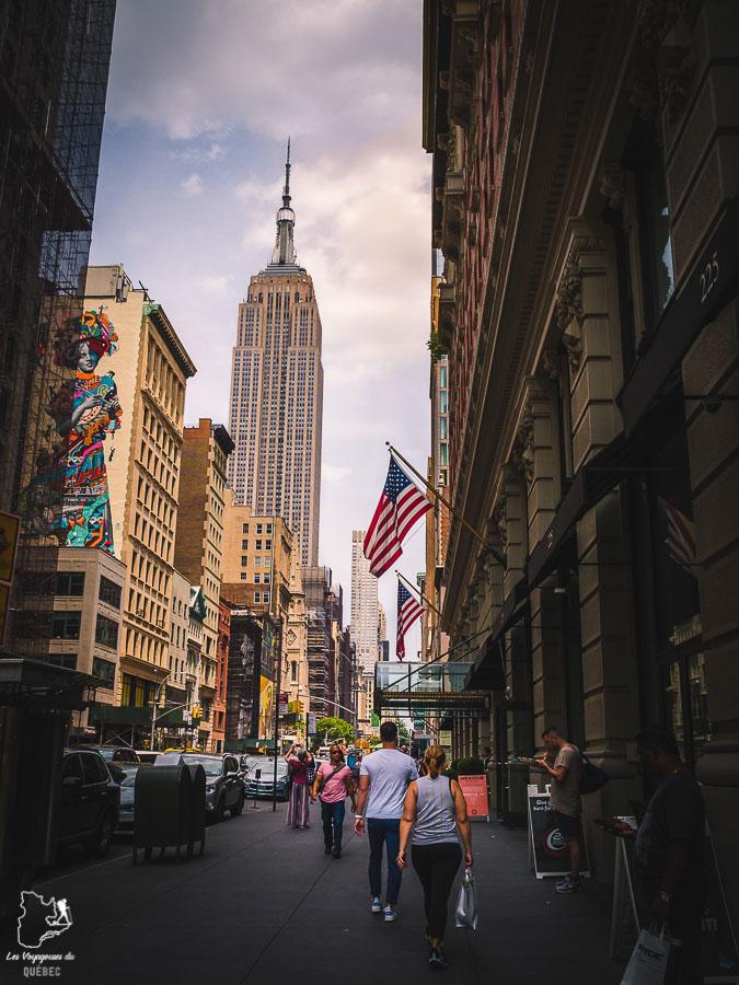 L'Empire State Building dans Midtown, un quartier de Manhattan dans notre article Manhattan à New York : exploration urbaine des quartiers de Manhattan #newyork #ville #usa #manhattan #etatsunis #amerique #citytrip #midtown #empirestatebuilding