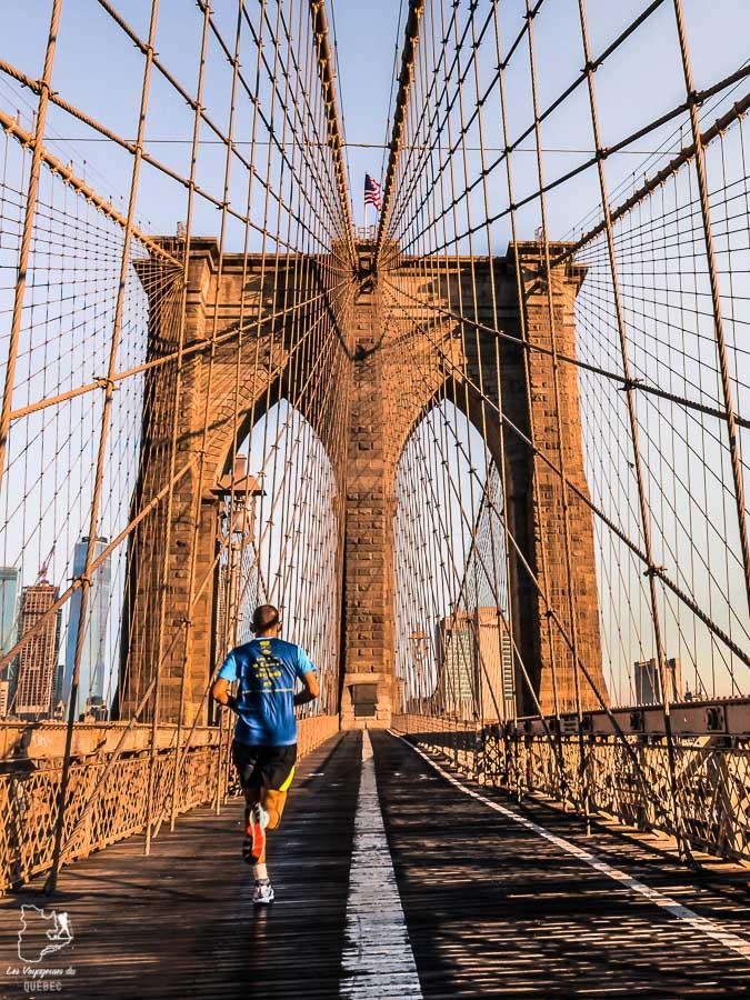 Plus belles vues de New York depuis le Brooklyn Bridge dans notre article Les meilleurs points de vue de New York et endroits pour photographier la ville #newyork #usa #etatsunis #vue #panoramique #pointsdevue