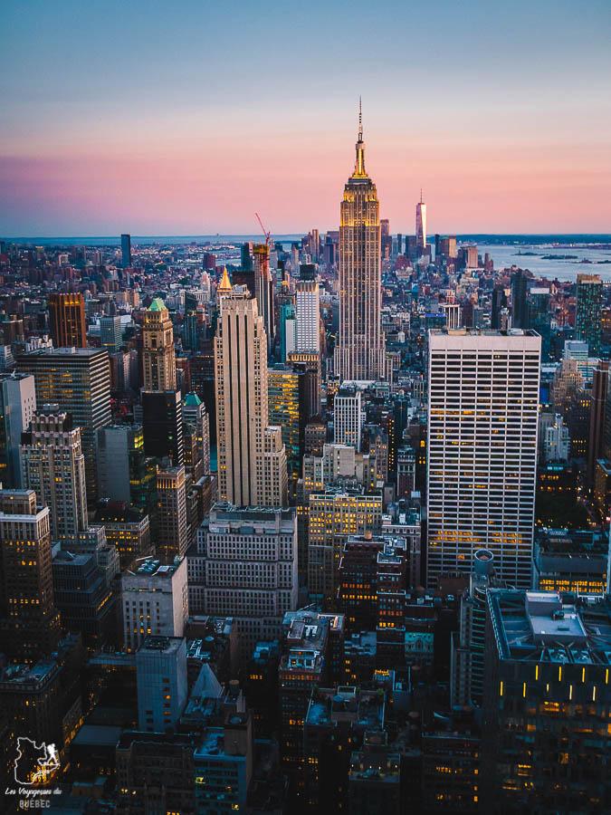 Vue panoramique de New York au Top of the Rock dans notre article Les meilleurs points de vue de New York et endroits pour photographier la ville #newyork #usa #etatsunis #vue #panoramique #pointsdevue