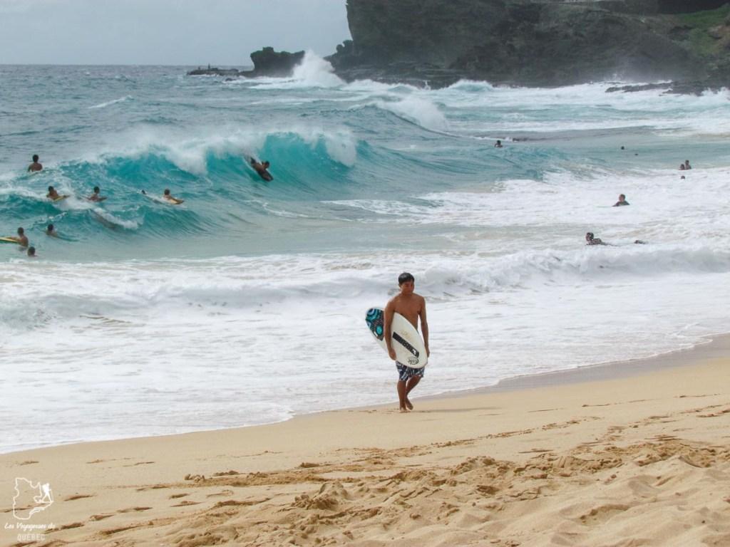 Sandy Beach, spot de surf à Oahu et de bodyboard dangereux dans notre article Le surf à Oahu : Mes plus beaux spots de surf sur cette île d'Hawaii #surf #oahu #waikiki #usa #voyage #spotdesurf