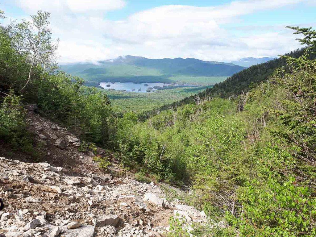 Slide du Mont Macomb dans les Adirondacks dans notre article Devenir un Adirondack 46er : Faire l'ascension des 46 plus hautes montagnes des Adirondacks #adirondack #adirondacks #46ers #46er #ADK46er #montagnes #usa #randonnee
