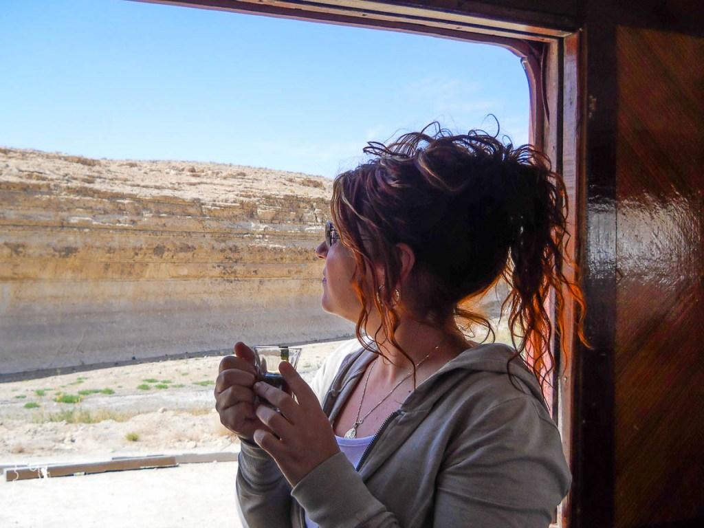 À bord du train, Le Lézard rouge, qui traverse le désert du Sahara dans notre article Déserts du monde : L'expérience mystique du Sahara, Thar et Wadi Rum #deserts #desert #sahara #thar #wadirum #voyage