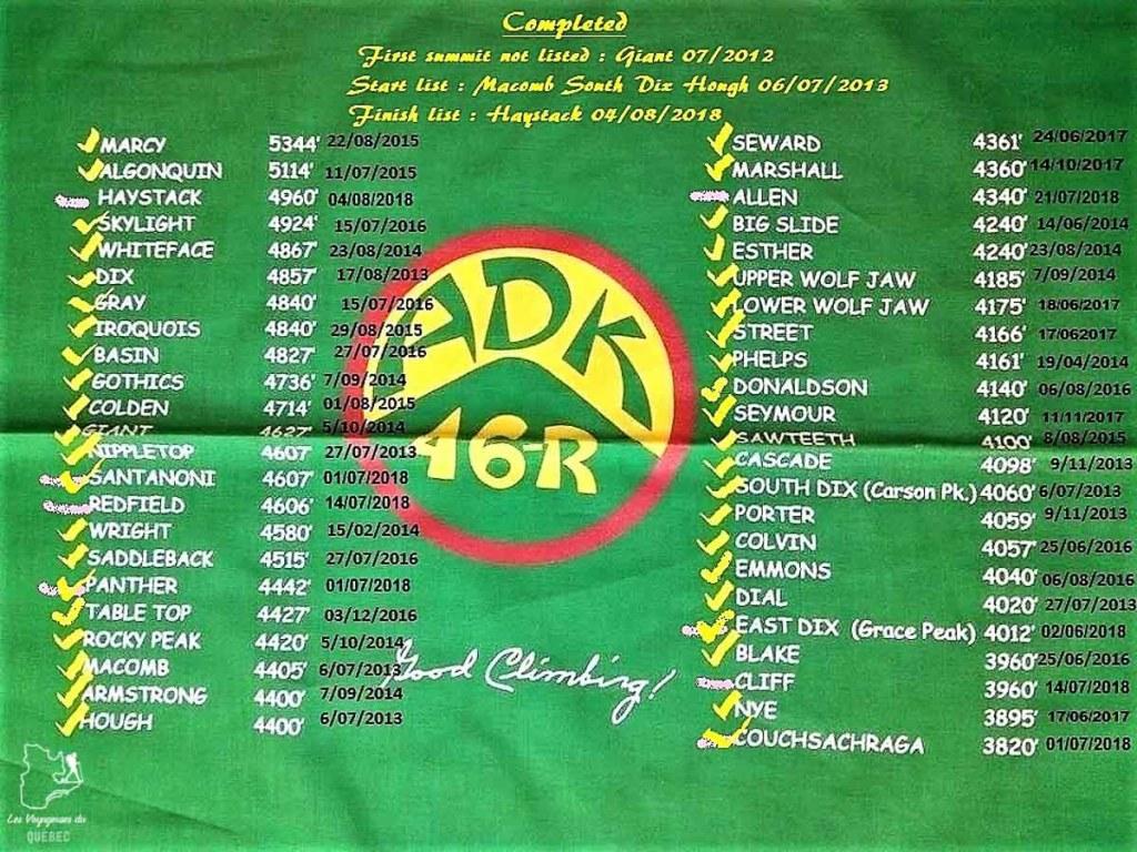 Liste des 46 plus hauts sommets des Adirondacks pour devenir ADK 46er dans notre article Devenir un Adirondack 46er : Faire l'ascension des 46 plus hautes montagnes des Adirondacks #adirondack #adirondacks #46ers #46er #ADK46er #montagnes #usa #randonnee