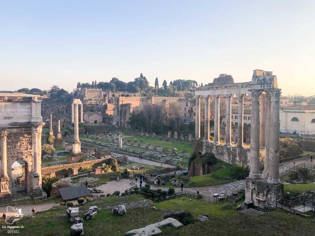 Le Forum Romain, à visiter à Rome en 4 jours dans notre article Visiter Rome en 4 jours : Que faire à Rome, la capitale de l'Italie #rome #italie #europe #voyage
