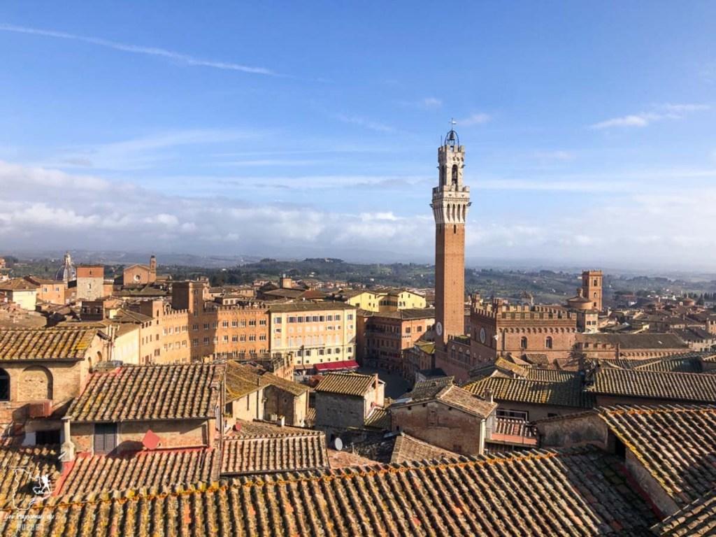 La vue sur Sienne du belvédère Facciatone dans notre article Visiter la Toscane en Italie : Mes incontournables de que faire et voir en 10 jours #toscane #italie #europe #voyage #itineraire #sienne