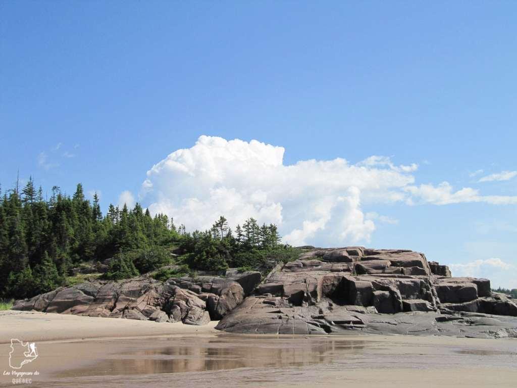 Plage de la Côte-Nord dans notre article Visiter la Côte-Nord au Québec : mes coups de cœur tout en nature #cotenord #quebec #canada #nature