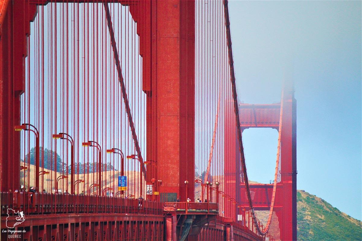 Golden Gate Bridge de San Francisco dans notre article Villes de la Californie : une semaine à San Francisco, Los Angeles et San Diego #californie #usa #etatsunis #voyage #losangeles #sanfrancisco #sandiego