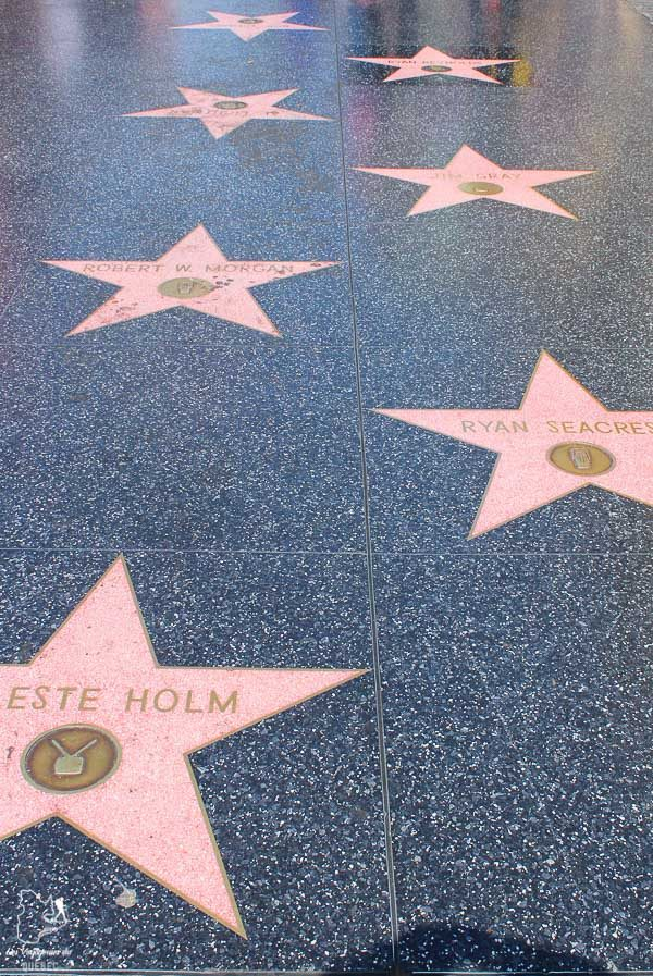 Étoiles de Hollywood sur Walk of Fame à Los Angeles dans notre article Visiter Los Angeles aux USA : Que voir et que faire à Los Angeles en 3 jours #losangeles #californie #usa #etatsunis #voyage