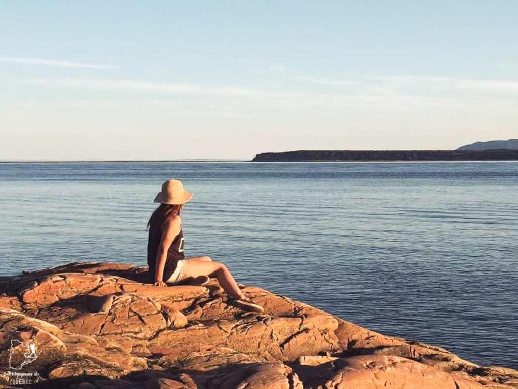 Coucher de soleil à Tadoussac dans notre article La randonnée au Québec : 8 randonnées pédestres au Québec testées et approuvées #randonnee #randonneepedestre #quebec #canada