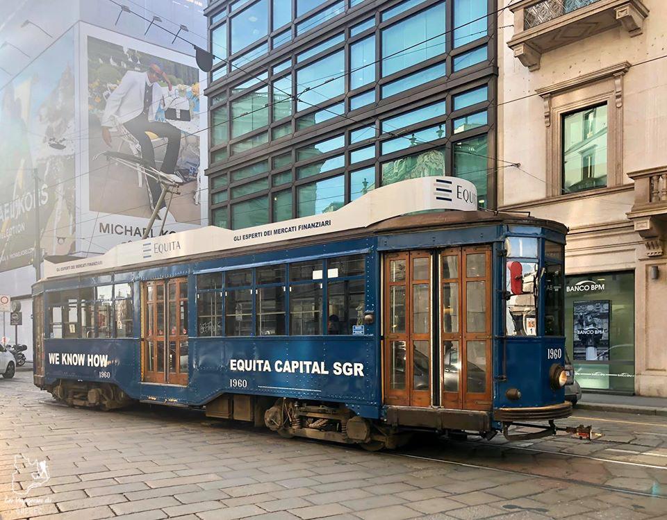 Vieux tramway électrique de Milan dans notre article Visiter Milan en Italie : 8 incontournables de que voir et que faire en 3 jours #Milan #Italie #Europe #voyage