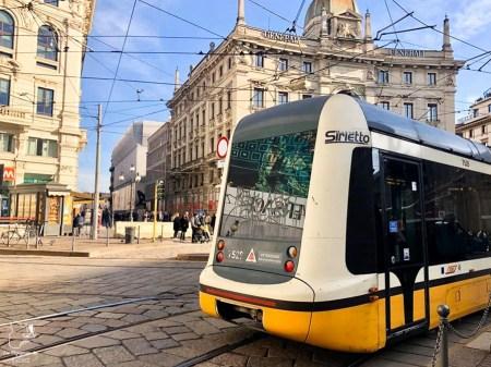 Tramway pour se déplacer à Milan dans notre article Visiter Milan en Italie : 8 incontournables de que voir et que faire en 3 jours #Milan #Italie #Europe #voyage