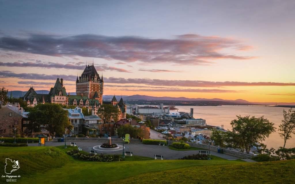 Photographier la ville de Québec à partir de la Terrasse Pierre-Dugua-de-Mons dans notre article Visiter Québec à travers ses plus beaux points de vue : 12 endroits où photographier la ville de Québec #quebec #villedequebec #canada #photographie