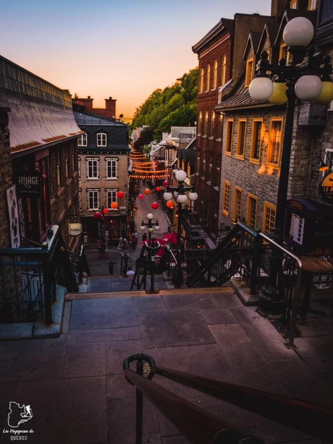 Visiter Québec et son escalier Casse-cou dans notre article Visiter Québec à travers ses plus beaux points de vue : 12 endroits où photographier la ville de Québec #quebec #villedequebec #canada #photographie