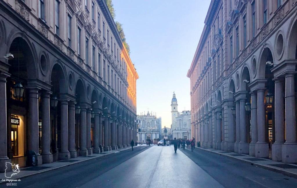 La Via Roma à Turin en Italie dans notre article Visiter Turin en 1 jour : Que voir et que faire à Turin en Italie #turin #italie #europe #voyage
