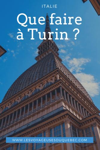 Visiter Turin : Que faire à Turin en Italie