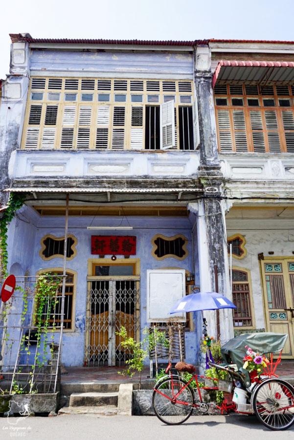 Shop house du Chinatown de Georgetown en Malaisie dans notre article Georgetown en Malaisie : Visiter Georgetown en 5 incontournables à ne pas manquer #georgetown #malaisie #asie #voyage
