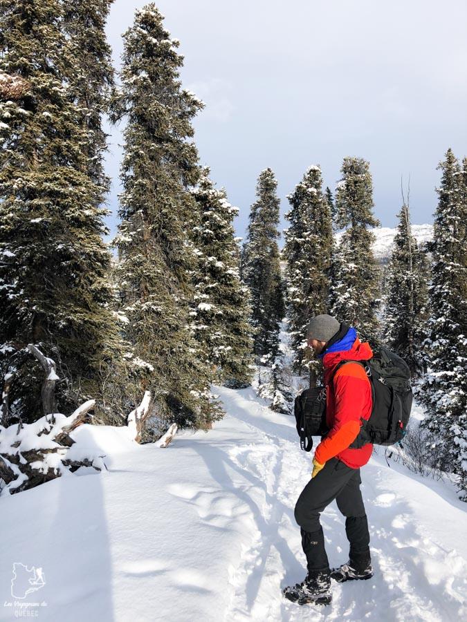 Randonnée au Fish Lake au Yukon dans notre article Visiter le Yukon en hiver : quoi faire au Yukon durant la saison hivernale #yukon #hiver #canada #voyage