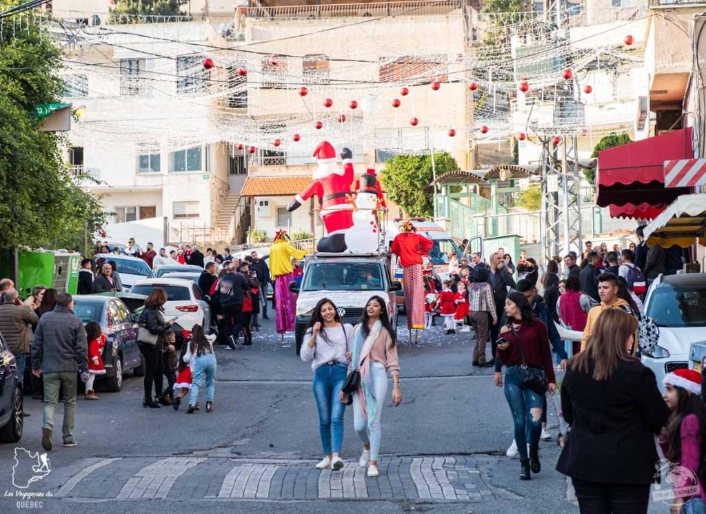 Parade de Noël à Nazareth en Israël dans notre article Noël en Terre sainte : 9 jours à visiter Israël et la Palestine durant les fêtes #noel #terresainte #israel #palestine
