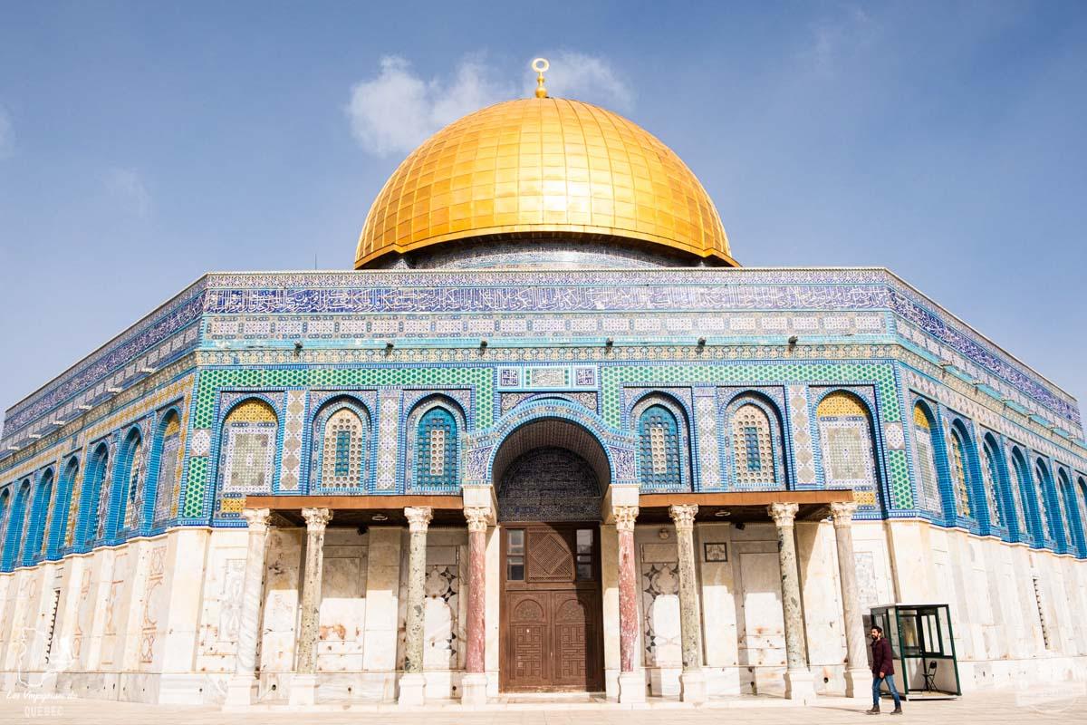 Dôme du Rocher à Jérusalem en Israël dans notre article Noël en Terre sainte : 9 jours à visiter Israël et la Palestine durant les fêtes #noel #terresainte #israel #palestine
