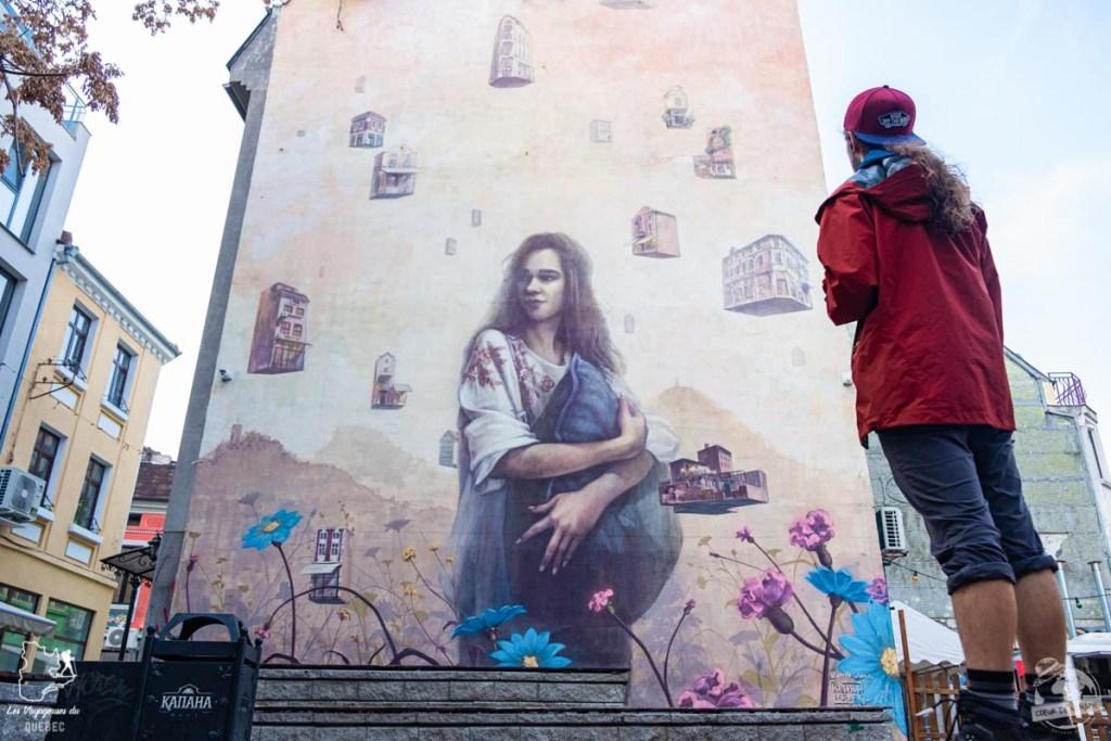 street art à Plovdiv en Bulgarie dans notre article Visiter la Bulgarie : itinéraire et conseils pour 1 mois de voyage en Bulgarie #bulgarie #europe #europedelest #voyage